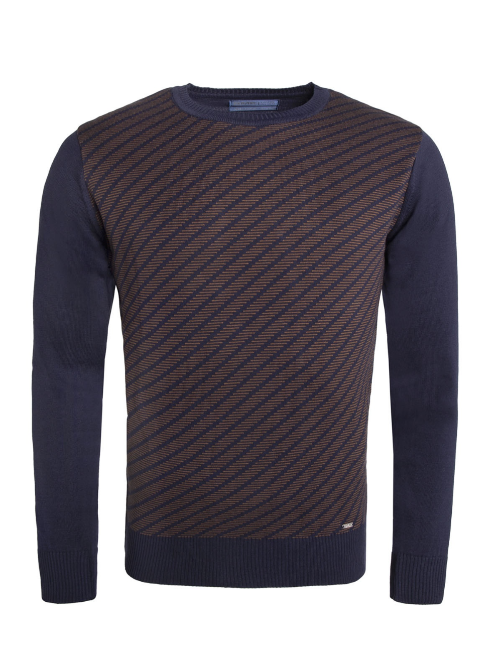 Smk Denim Co Camisola Smk Diagonal Str In 2020 Knit Men Men Sweater Mens Fashion [ 1333 x 1000 Pixel ]