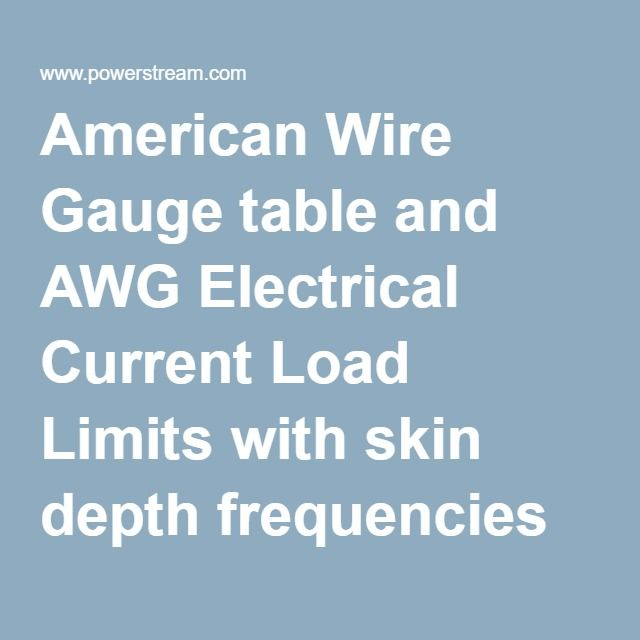 American wire gauge table and awg electrical current load limits american wire gauge table and awg electrical current load limits with skin depth frequencies and wire breaking strength keyboard keysfo Image collections