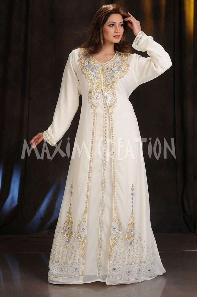 10e5f950ee1 2017 ROYAL WEDDING GOWN PARTY WEAR DUBAI MOROCCAN KAFTAN WOMEN CLOTHING EDH  4375  dress  clothes  woman  women  moda  fashion