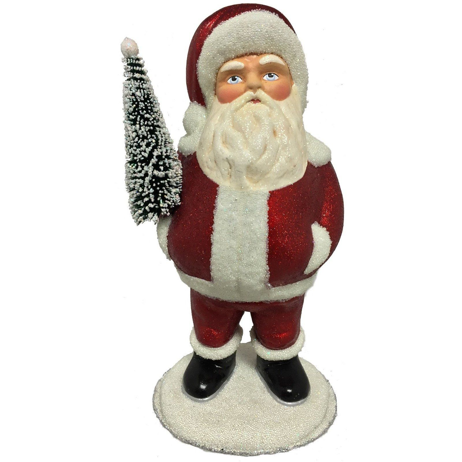 Paper Mache Ino Schaller Santa With Full Belly