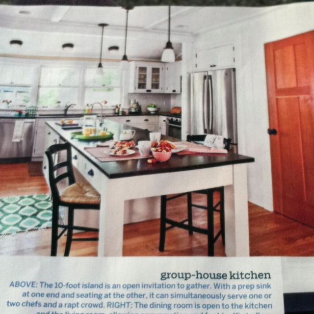 10 Foot Kitchen Island With Prep Sink At One End And Table Seating At The Other Thisoldhouse Com June 2012 Mag Issue Home Kitchens Home Stairs Design Kitchen