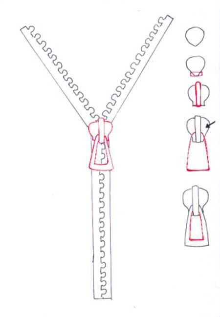How to draw a zip and how to draw zipper step by step ...