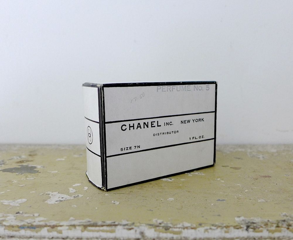 Unopened box and sealed bottle of vintage (pre-1951) Chanel No. 5 perfume. Perfect for the collector of this world-renowned, iconic perfume.