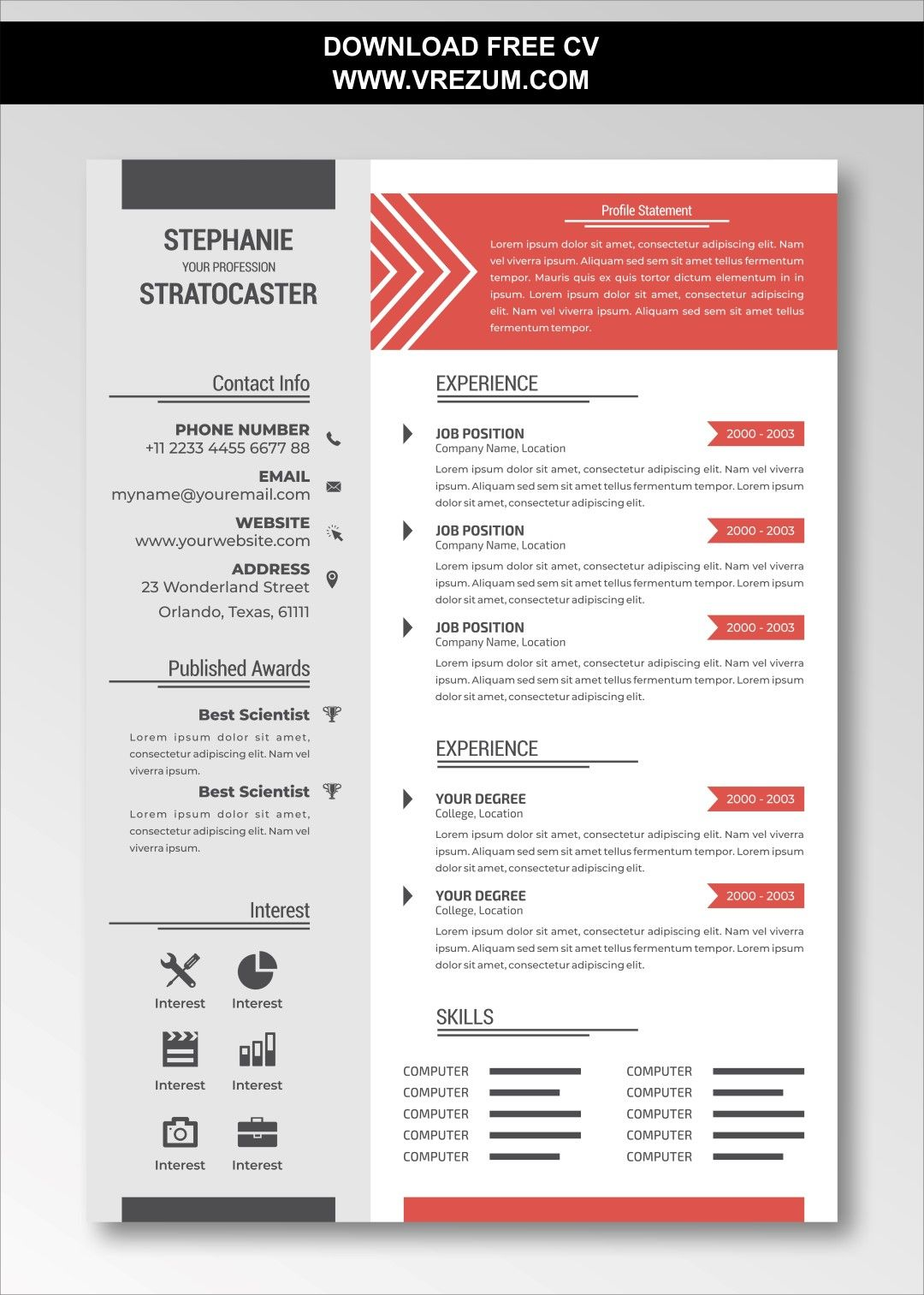 (EDITABLE) FREE CV Templates For Delivery Driver in 2020
