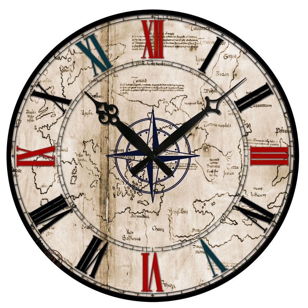 New Fashion Euopean Large Wall Clocks Wooden Vintage Antique 15 Big Silent Work Wall Clocks Contemporary Wall Clock Unique Wall Clocks Decorative Wall Clo