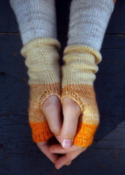 Whits Knits Colorblock Hand Warmers Fingerless Gloves Gloves
