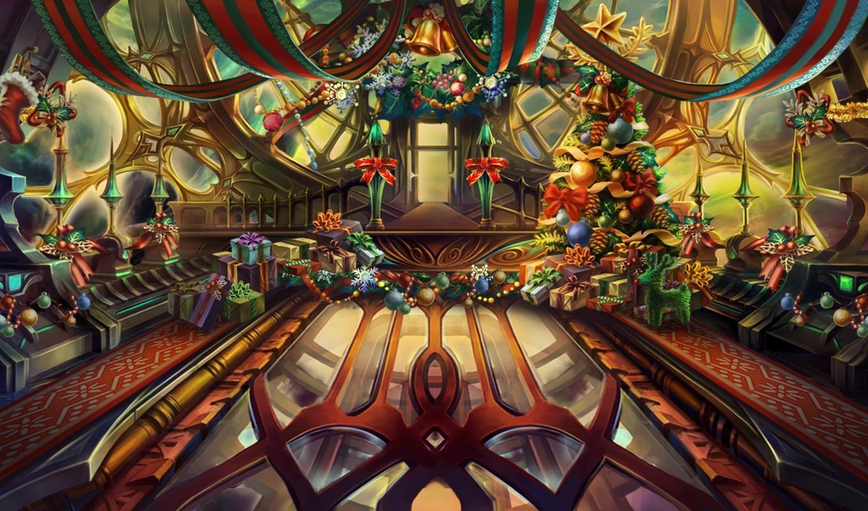Christmas Theme Lobby - Airship Noah | Dragon Blaze