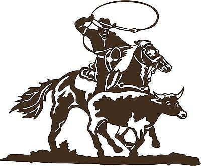 Roping Rodeo Decal Western Cowboy Car Window Horse Vinyl Sticker