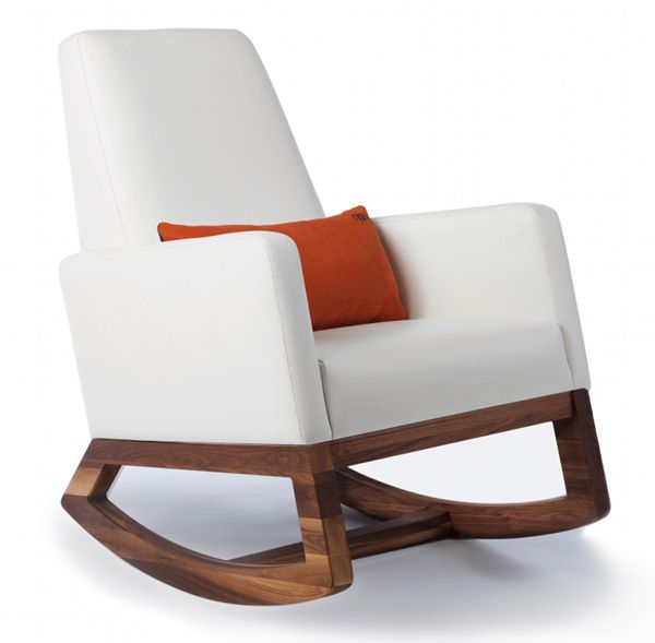 White Leather Joya Five Best Rocking Chairs For S And Kids Alike