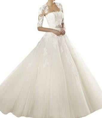 Gorgeous Bride Traumhaft Lang Massegeschneidert Chiffon Kristall ...