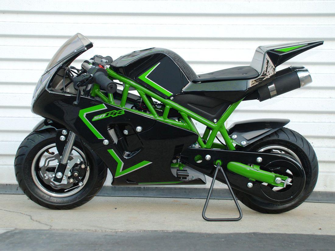 47cc 2 stroke pocket bike green 2016 models. Black Bedroom Furniture Sets. Home Design Ideas