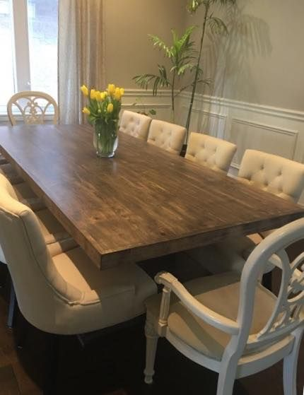 Wormy Maple With Espresso Stain Maple Dining Table Maple Wood