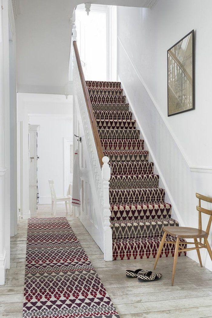 le tapis pour escalier en 52 photos inspirantes decor design details pinterest maison. Black Bedroom Furniture Sets. Home Design Ideas