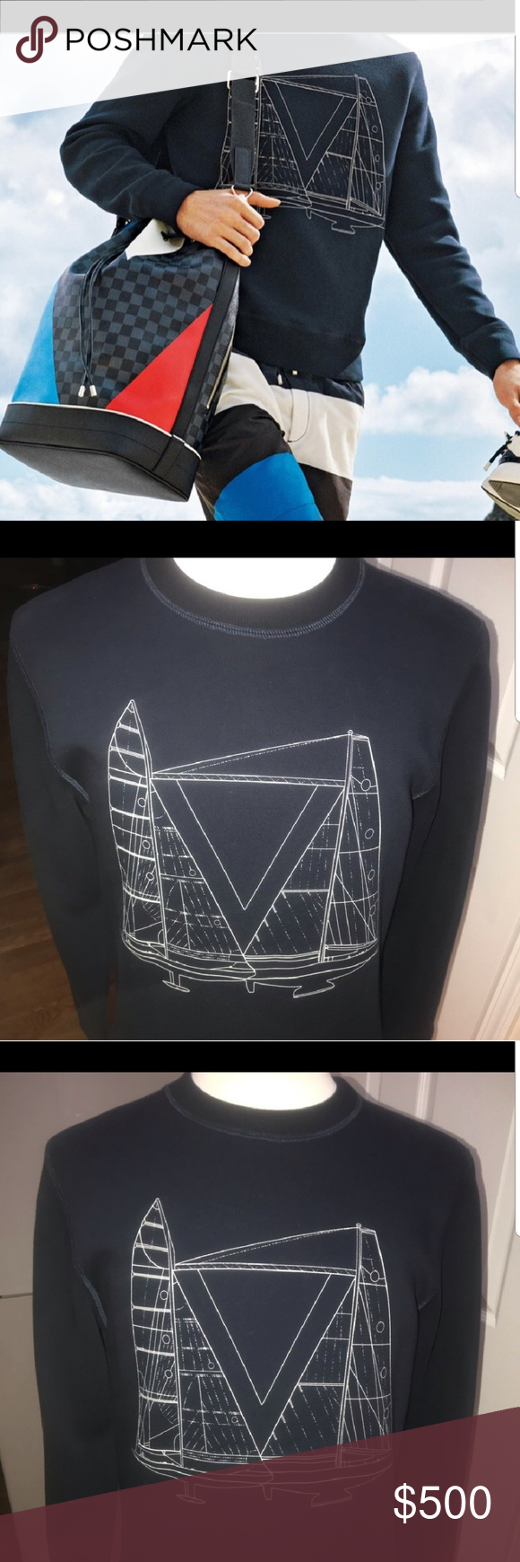 71aeb111de6e Louis Vuitton America s Cup Sweater Used (Excellent Condition) Only worn  twice! 100% Authentic From Louis Vuitton s America s Cup Capsule Collection  Louis ...