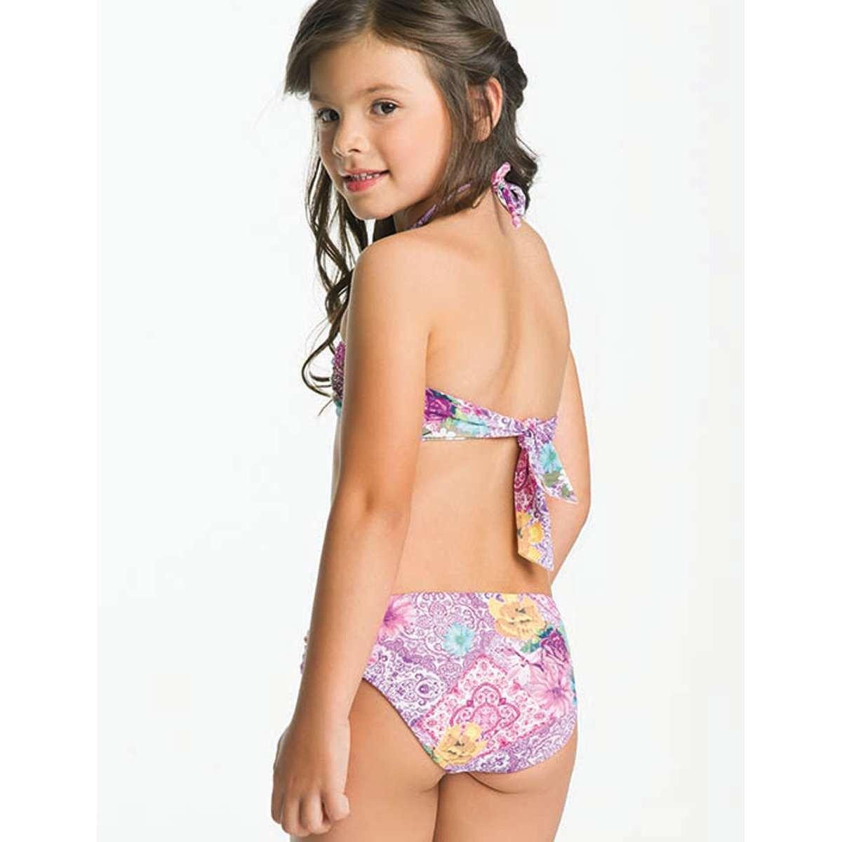 Backs of girls in bikinis