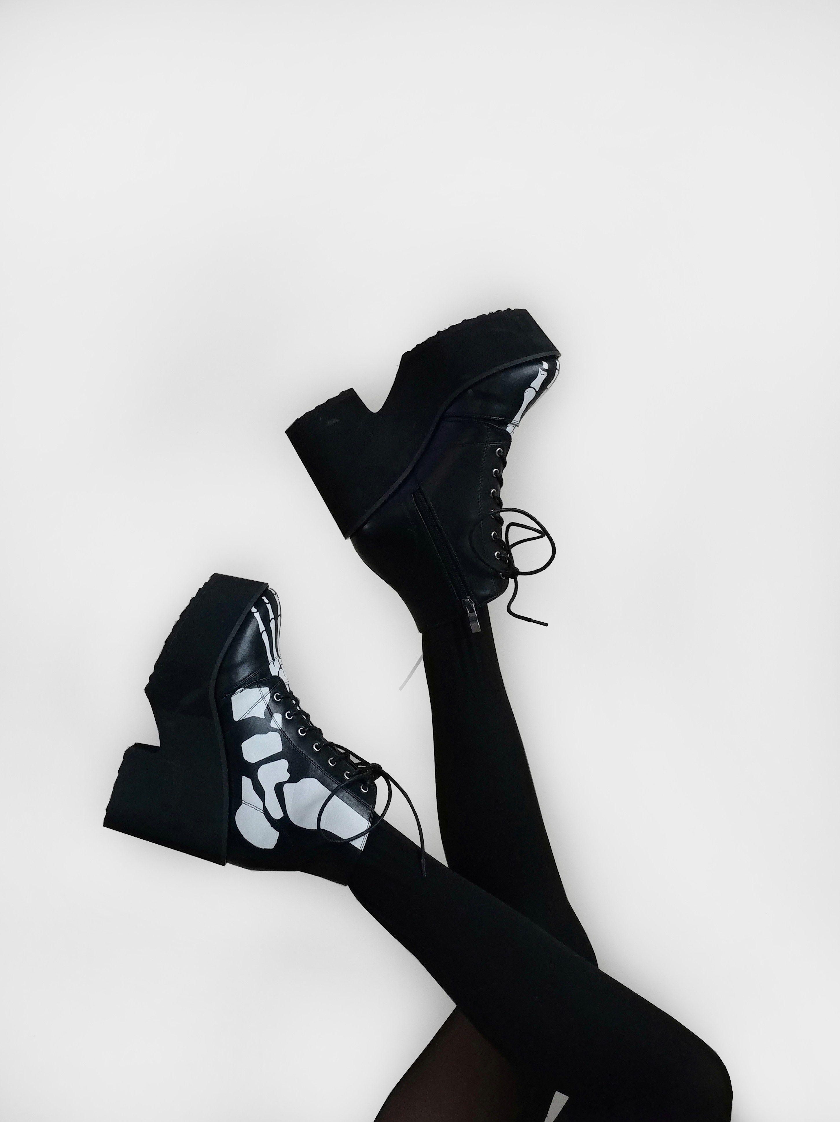 Hot Topic Skeleton Platform Boots