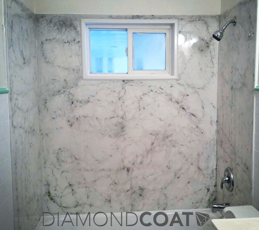 Gorgeous custom epoxy shower done by the Renfros with Countertop ...