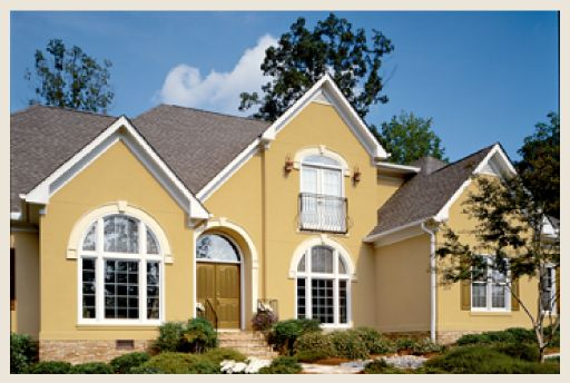 Best Yellow House With Red Roof English Us Decor 400 x 300