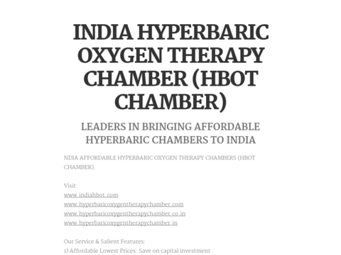 India Hyperbaric Oxygen Therapy Chamber Hbot Chamber