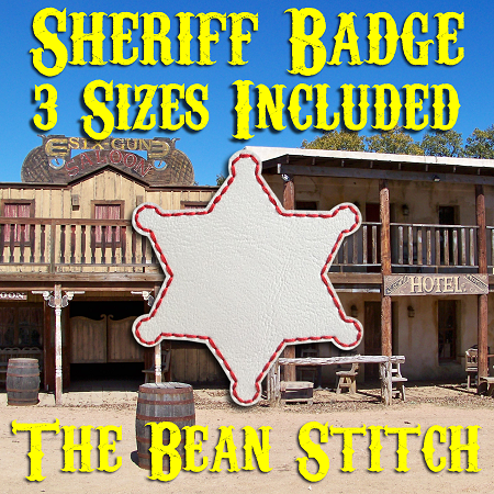Sheriff Badge No Tab - 3 Sizes!
