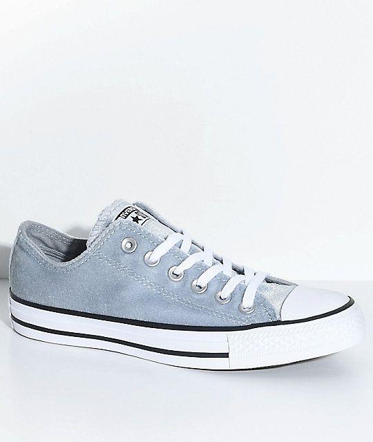 811a2675e1e Converse Chuck Taylor All Star Ox Wolf Grey Velvet Shoes