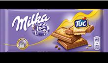 Milka Alpine σοκολάτας γάλακτος & TUC κροτίδες