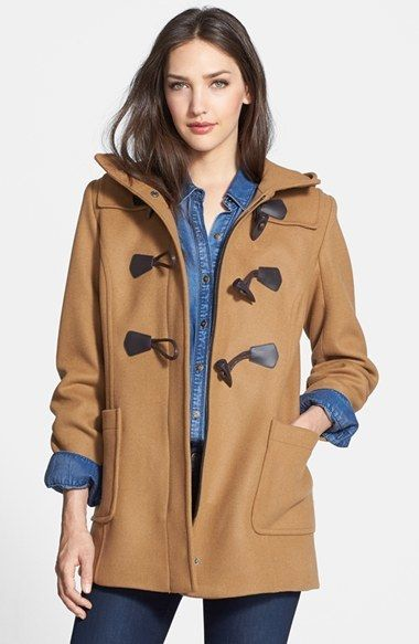 Hooded Wool Blend Duffle Coat | Duffle coat, Wool blend and Nordstrom