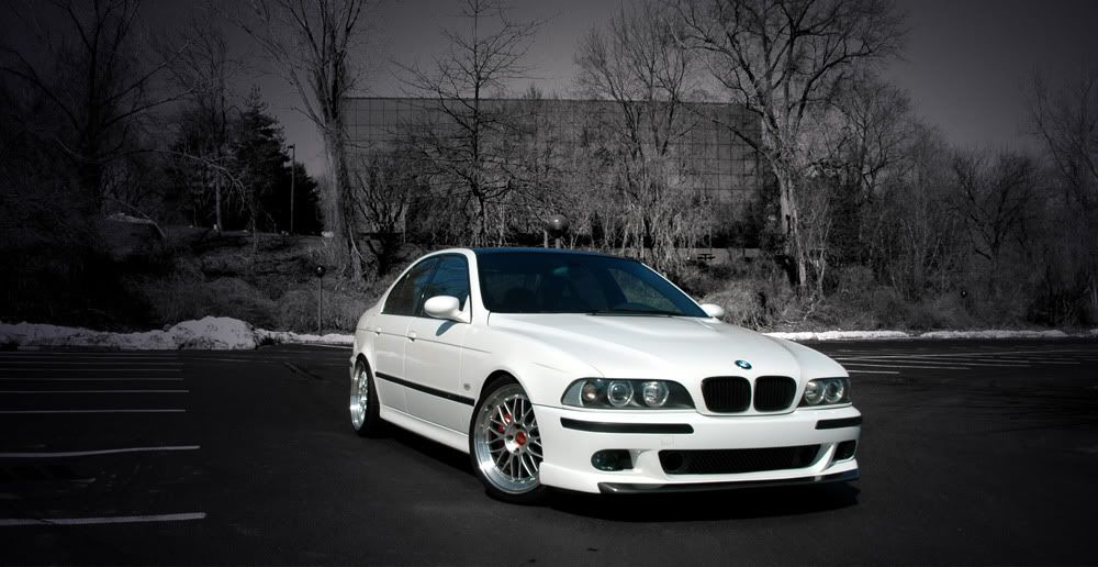 Bmw E39 M5 White With The Beautiful Vorsteiner Power Dome Hood And
