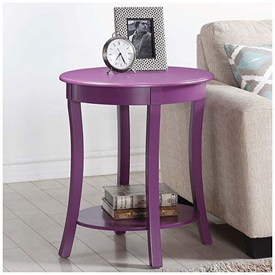 Big Lots 50 Purple Oval Side Table at Big Lots Janiyas Bedroom