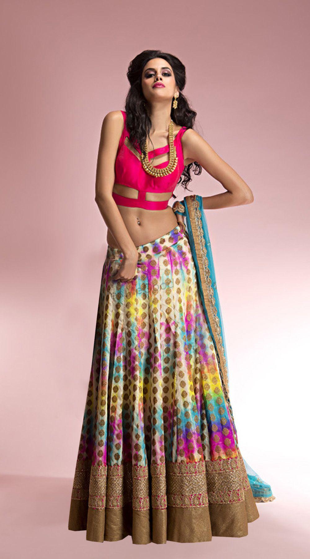 82770e49d49 Fashion Smart designer Lehenga Fabrics details   Top Fabrics   Cotton  Bottom Fabrics   Cotton Top Colour   PInk Bottom Colour   Multi Inner   Silk  Dupatta ...