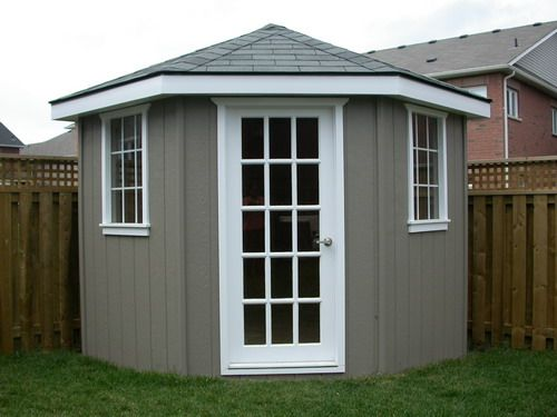 instructions on how to build a corner shed doesnt look to hard nothing