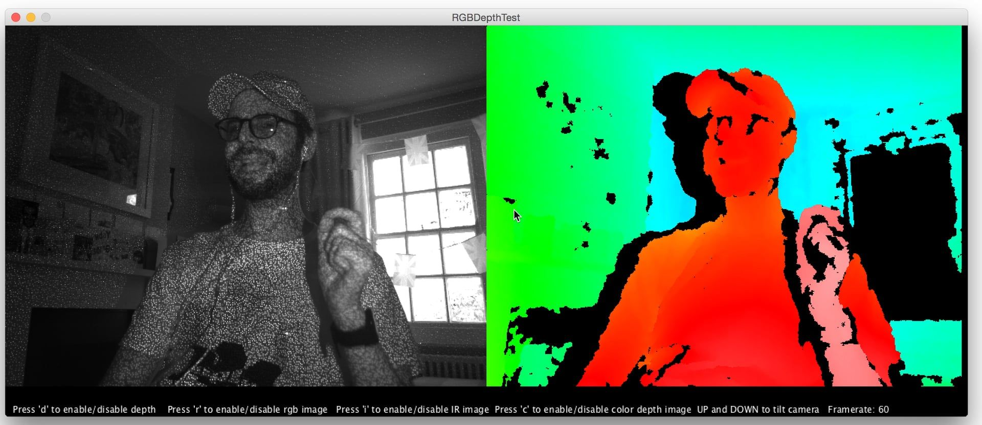 Open Kinect for Processing Demo | Interactive Project