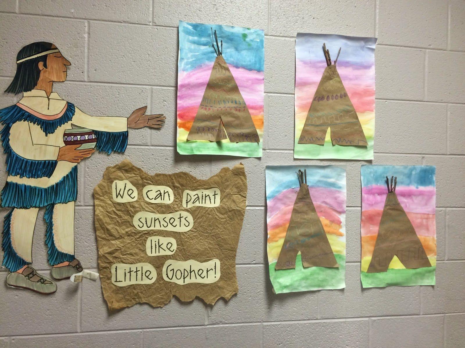 Kindergarten Teepee Art Lessons