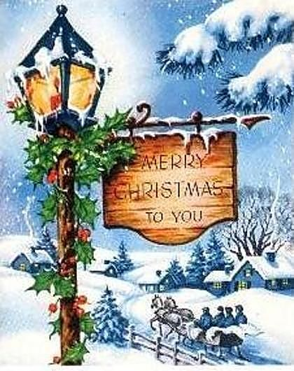 Merry Christmas To All Of You Here On Pinterest And To All Who Follow Words And Wisdom Happy Ho Christmas Paintings Vintage Christmas Vintage Christmas Images