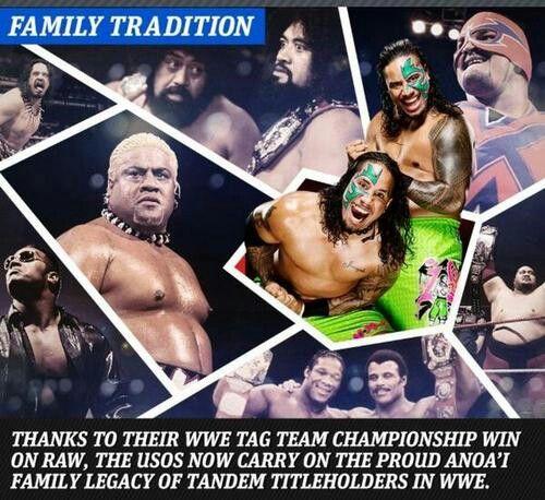 Family Tradition Jimmy Jey Uso Wrestling News Pro Wrestler