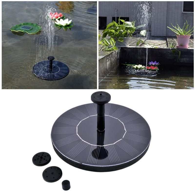 Floating Solar Powered Water Fountain Solar Powered 640 x 480