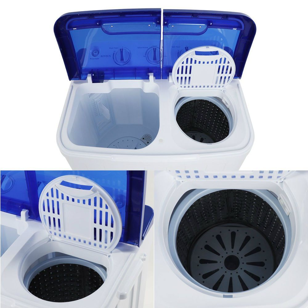 Washer Dryer Combo Portable Washing Machine 16lbs Stackable Cheap All In One New Evirtualdeal Portable Washing Machine Mini Washing Machine Washer Dryer Combo