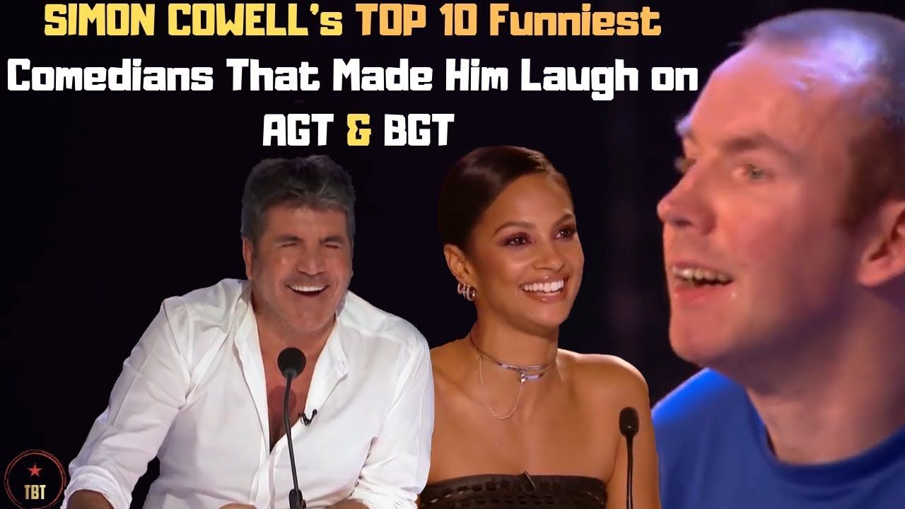 Simon Cowell S Top 10 Funniest Comedians That Made Him Laugh On Agt Bg Funny Comedians 10 Funniest Comedians