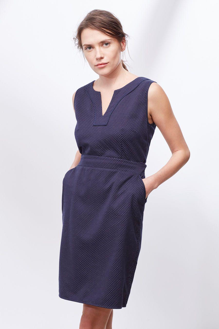 Cortefiel Vestido jacquard lunares Azul | Fashion | Pinterest ...