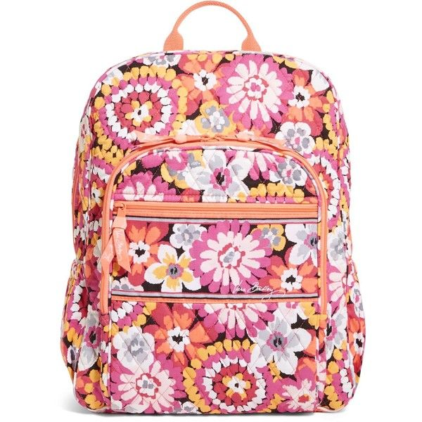 Vera Bradley Campus Backpack in Pixie Blooms ( 109) ❤ liked on Polyvore  featuring bags, backpacks, purses, pixie blooms, strap bag, pink bag, ... bc5f87c5b9