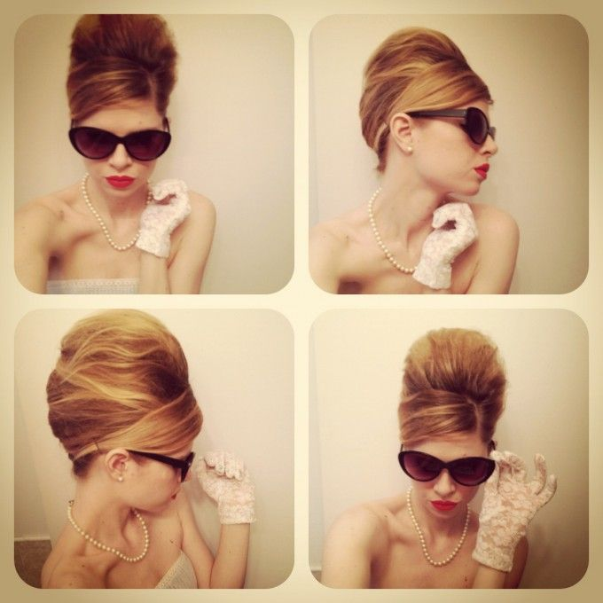 "Beehive Style Wedding Hair: ""Guess How You Do A Beehive. Tease, Then Tease More, Then"
