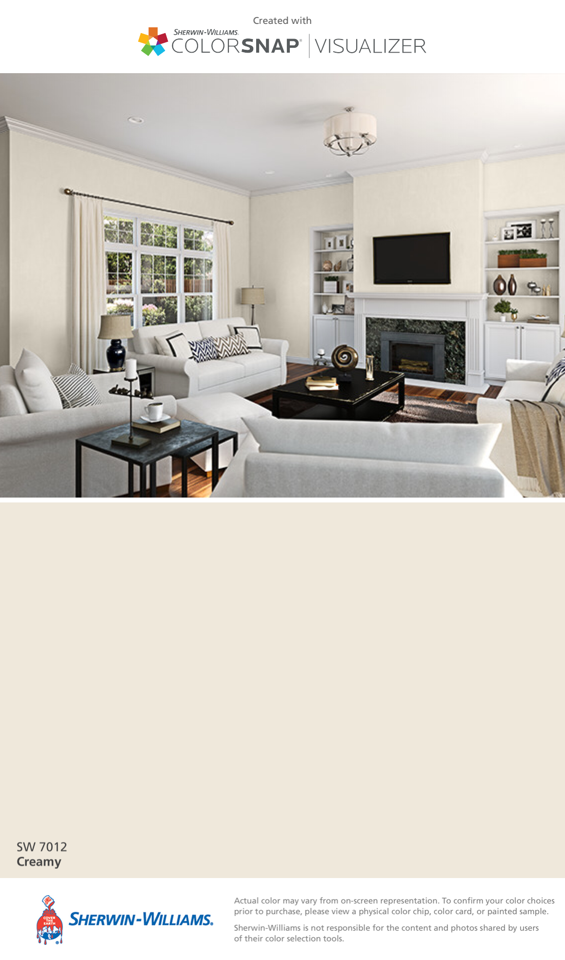 I Found This Color With Colorsnap Visualizer For Iphone By Sherwin Williams Creamy Sw Paint Colors For Home