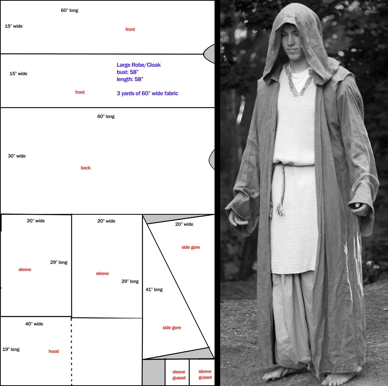 Hooded Robe Pattern Cool Design Ideas