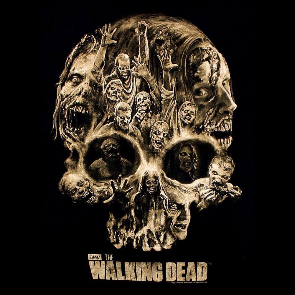 Walking Dead Skull Tee more TWD & zombies https//www