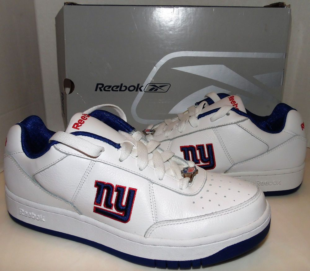 7d6d28e89df New York Giants Men s NFL Recline White Royal Blue Red Shoes Sneakers Size  8.5  Reebok  AthleticSneakers