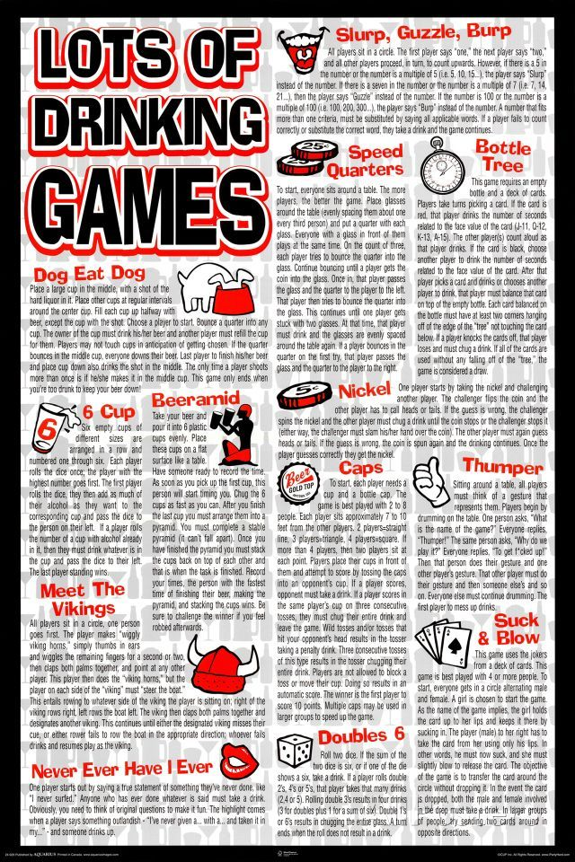 Drinking Games Prints Drinking games for parties