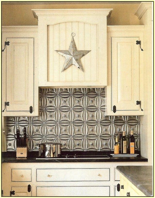 Metal Ceiling Tiles For Backsplash Tin Kitchen