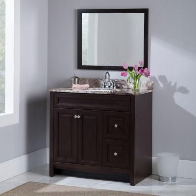 Home Decorators Collection Brinkhill 36 in. Vanity Cabinet Only in ...