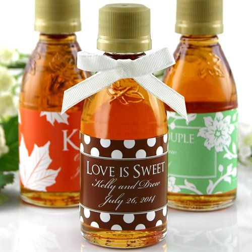 Personalized Maple Syrup Wedding Favor | Event and Gift ...