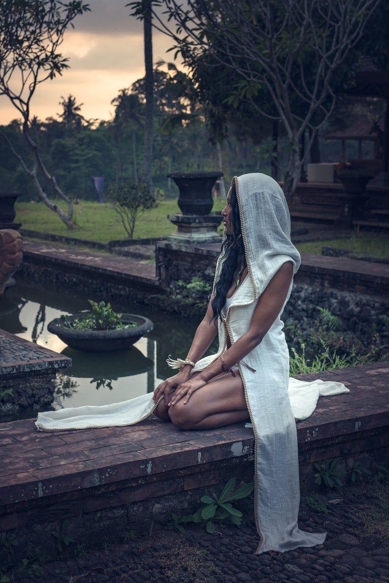 High priestess goddess robe cotton kundalini ceremony